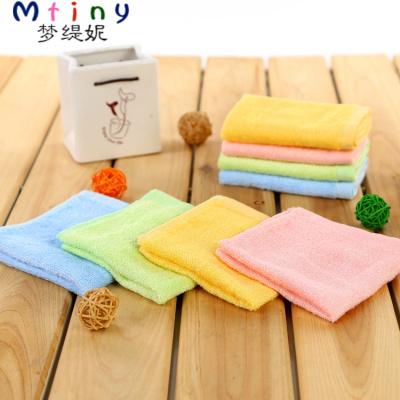 Mtiny【2條裝】竹纖維小方巾 小毛巾洗臉擦手巾 手帕 25*25 洗碗巾抹布