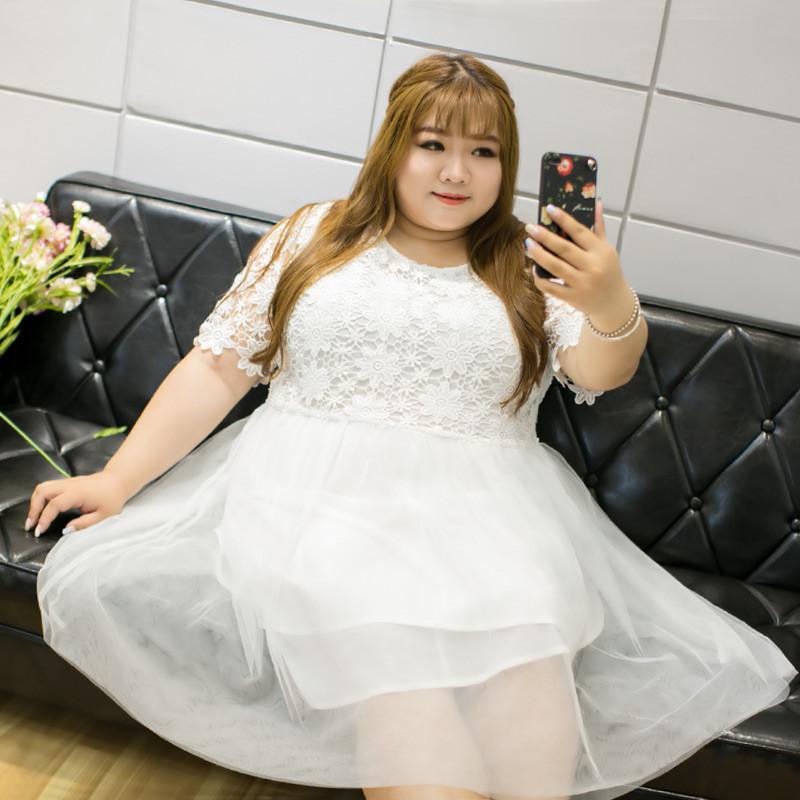加大码女装胖MM连衣裙