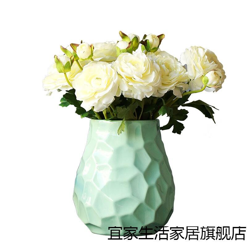 新款现代简约花器家居饰品客厅陶瓷花瓶花插装饰摆件家具摆饰仿真花艺