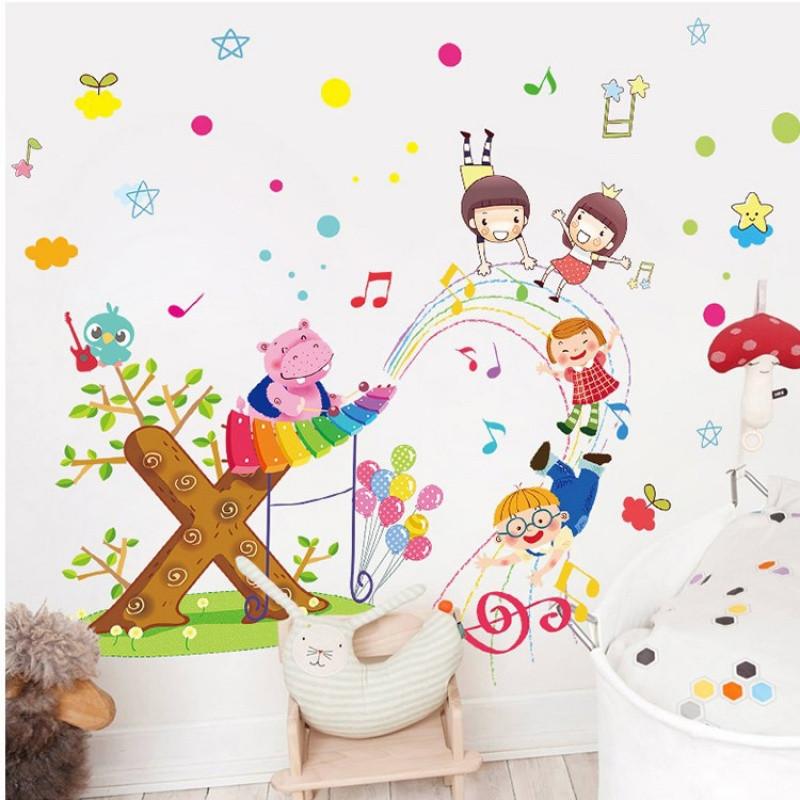宜佳蕙 男孩卧室儿童房间装饰墙贴画 幼儿园墙壁卡通墙画贴纸自粘动物