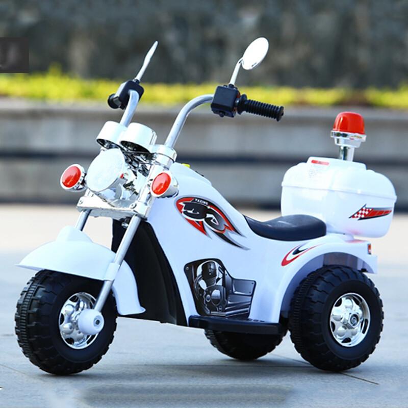 儿童电动摩托车小孩三轮可坐可骑宝宝玩具车童车充电哈雷警车