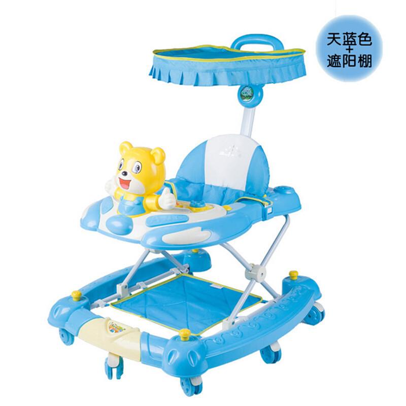 多功能婴儿学步车儿童摇摇车可折叠带餐盘玩具车