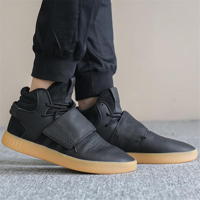 adidas/阿迪达斯 男子休闲鞋 三叶草 tubular高帮魔术贴休闲鞋板鞋 by图片