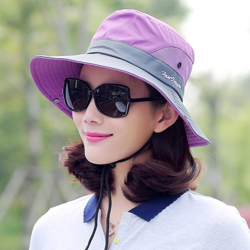 828新款遮阳帽子女士防晒夏天户外渔夫帽折叠旅游太阳