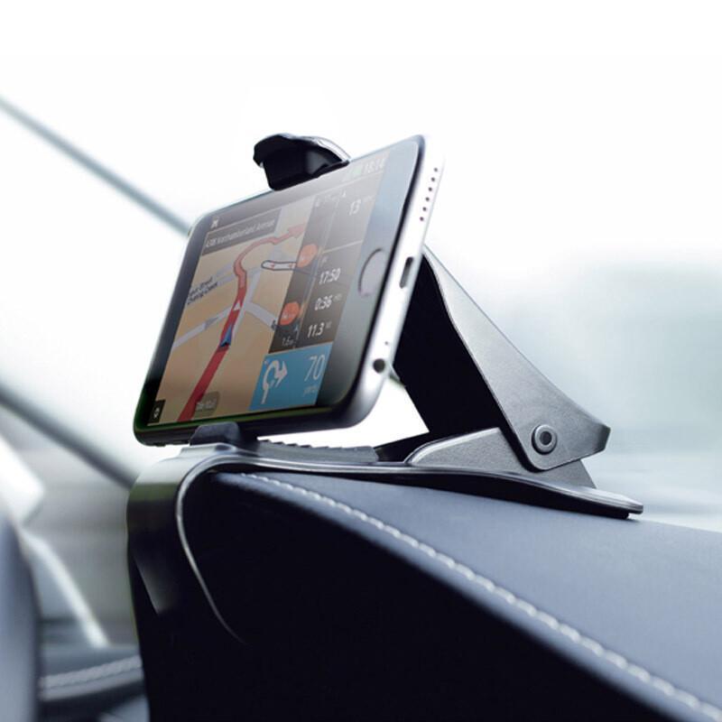 拉运汽车车载手机支架仪表台手机支架车上用手机导航用品 尊贵黑仪表