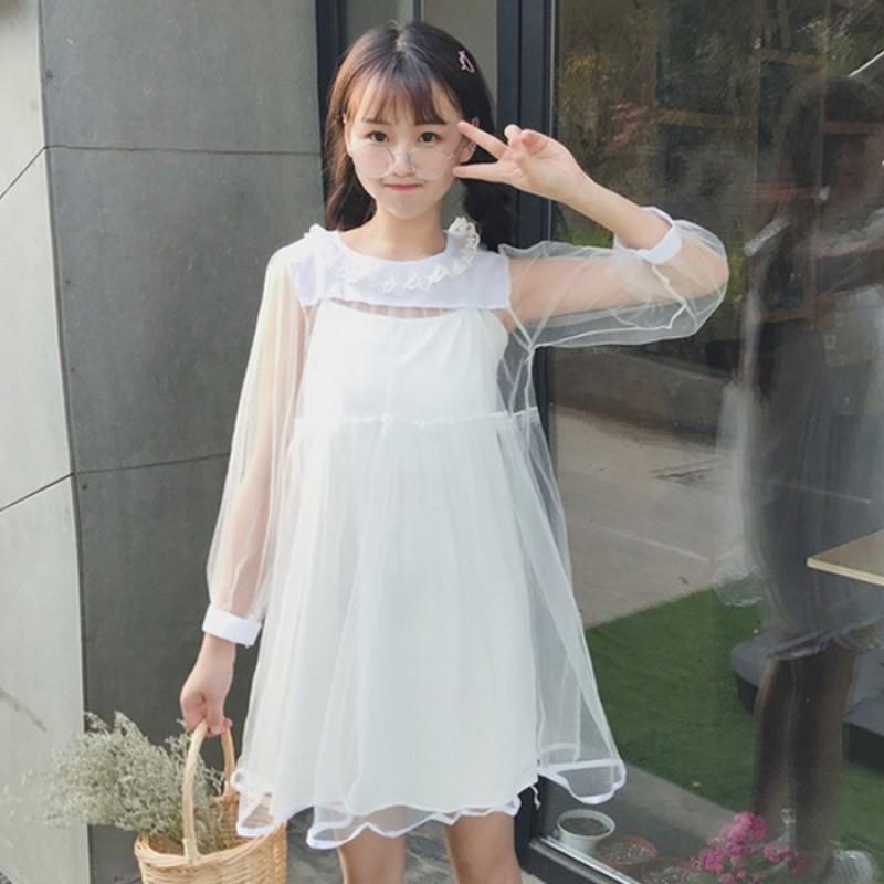 蕾丝蓬蓬裙连衣裙甜美