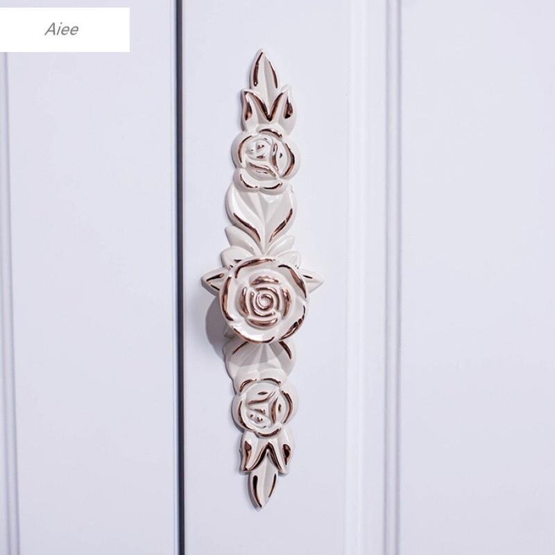 aiee田园欧式简约现代鞋柜烤漆法式雕花储物柜隔断白色玄关门厅餐边柜