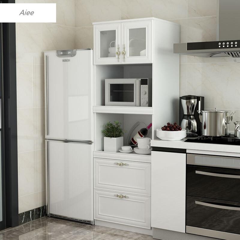 aiee廚房微波爐柜陽臺儲物收納柜子現代簡約組合餐邊柜高 寬590深400
