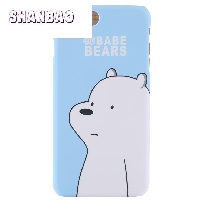shanbao新款可爱呆萌小熊iphone6plus手机壳潮流苹果6