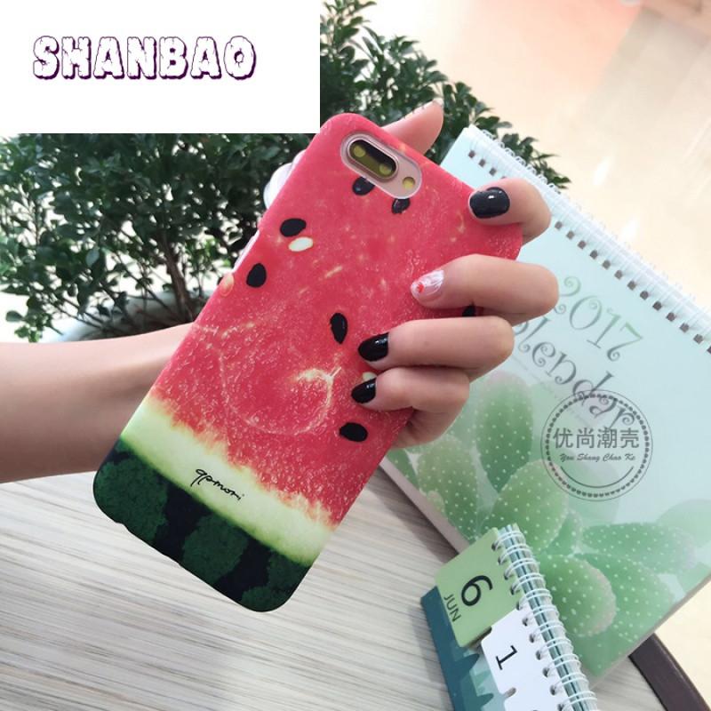 shanbao夏天新款创意西瓜可爱小清新oppor11手机壳r9splus超薄硬壳r9