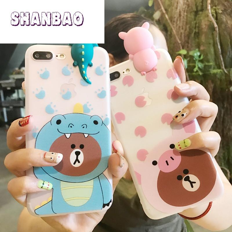 shanbao韩国可爱小熊oppor11手机壳新款r9s防摔全包r9