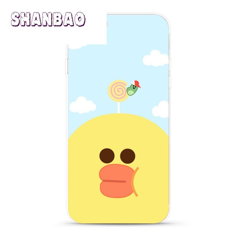 shanbao可爱小熊苹果iphone7 6s plus 5s手机壳小黄鸭
