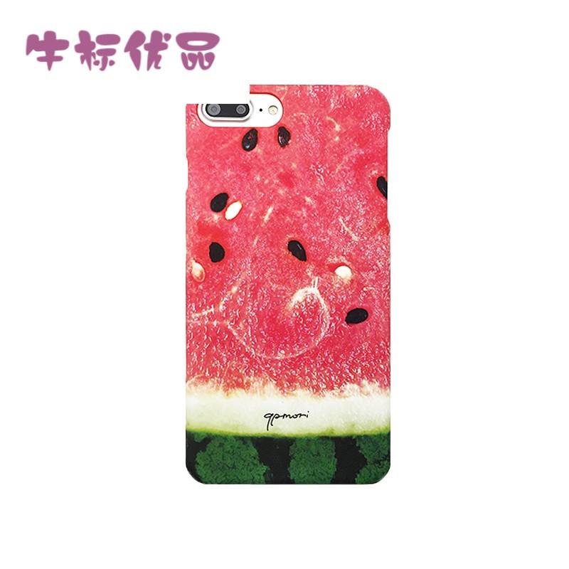 牛标优品夏天新款创意西瓜可爱小清新苹果7手机壳iphone7plus超薄硬