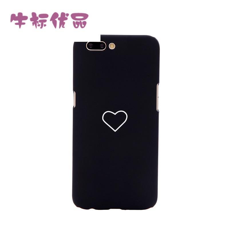 牛标优品黑色粉色爱心情侣壳vivox7x9s手机壳可爱粉色