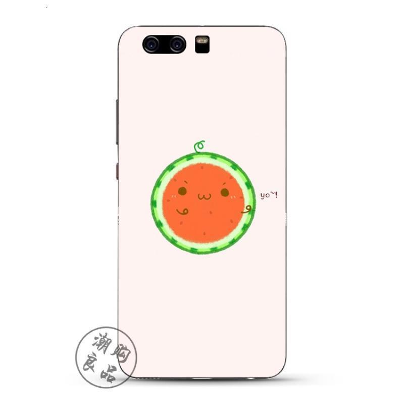 2017款华为p10/p9/p8/g9plus手机壳青春版硅胶女简约创意可爱西瓜表情