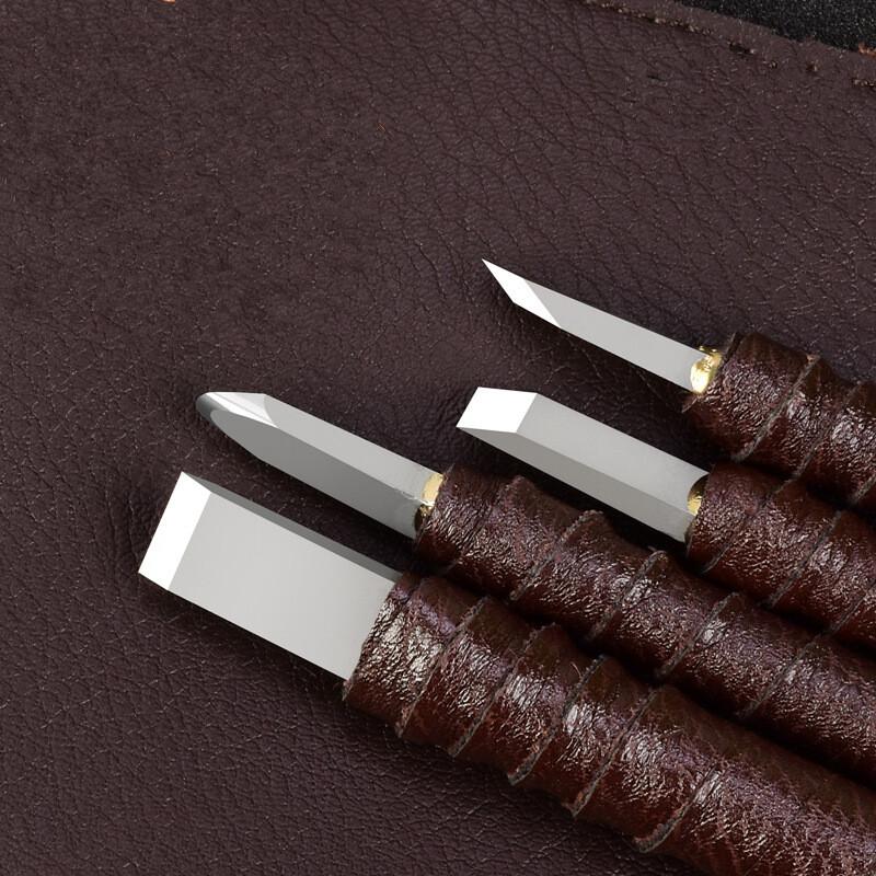 木工雕刻刀具套装 高端手工刻刀礼品 雕玉石橡皮章印章雕石头刻字篆刻