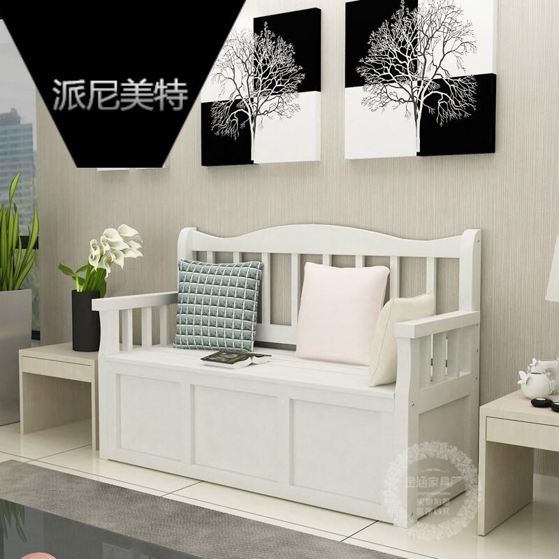 实木卡座沙发椅双人客厅小户型实木长椅阳台长椅高背储物椅
