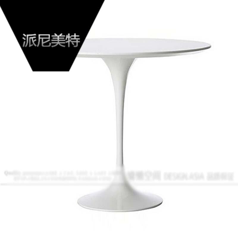 简约咖啡厅餐桌椅组合户外阳台圆桌郁金香桌子欧式餐台家用饭桌*玻璃