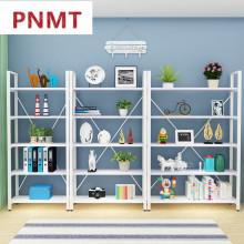 钢木书架简易铁艺货架墙上多层置物架客厅架子展示架书柜图片