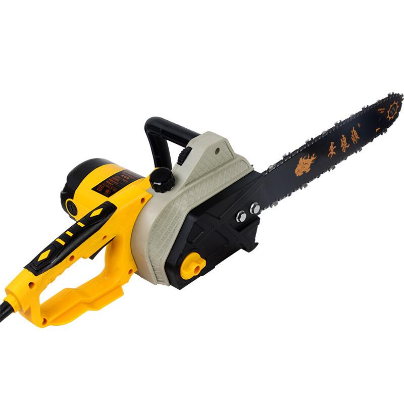 电竞技家用电锯木工伐木锯链锯锯(黄)电链条带1根利链锯器材图片