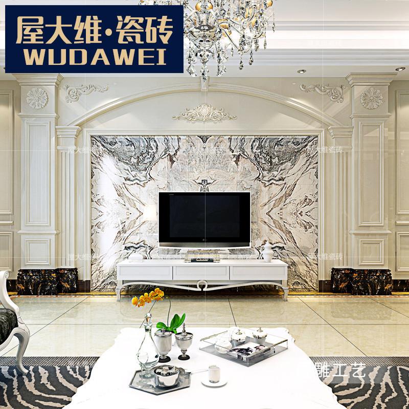 屋大维瓷砖 欧式仿大理石罗马柱石材电视背景墙边框线条造型定制