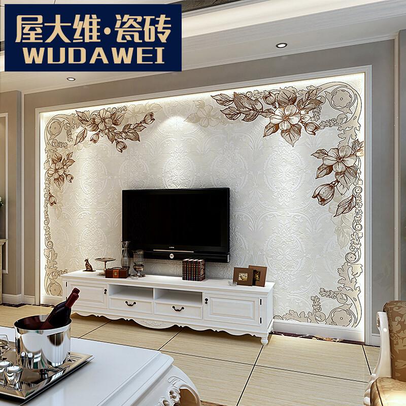 屋大维瓷砖背景墙客厅电视墙3d彩雕刻玄关仿古砖墙砖文化石简约欧