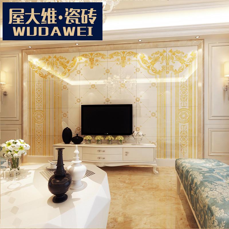 电视背景墙瓷砖 现代简约客厅微晶石大理石仿古砖墙面