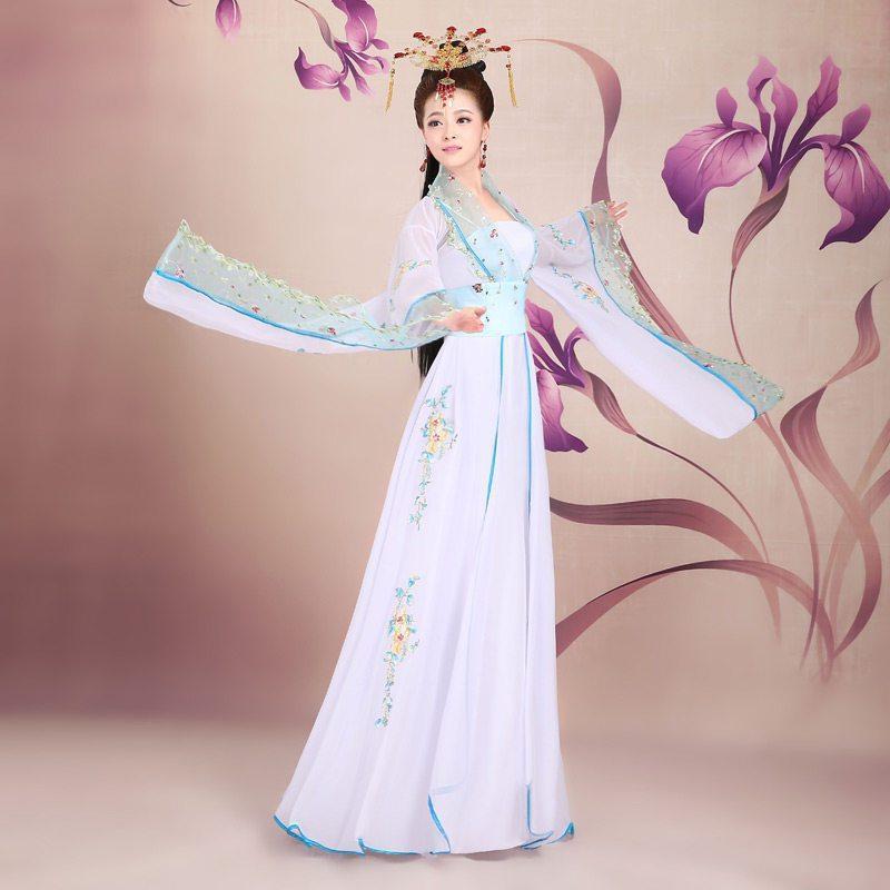 古装服装女装仙女唐朝古代汉服演出服舞蹈襦裙公主贵妃古典舞唐装图片