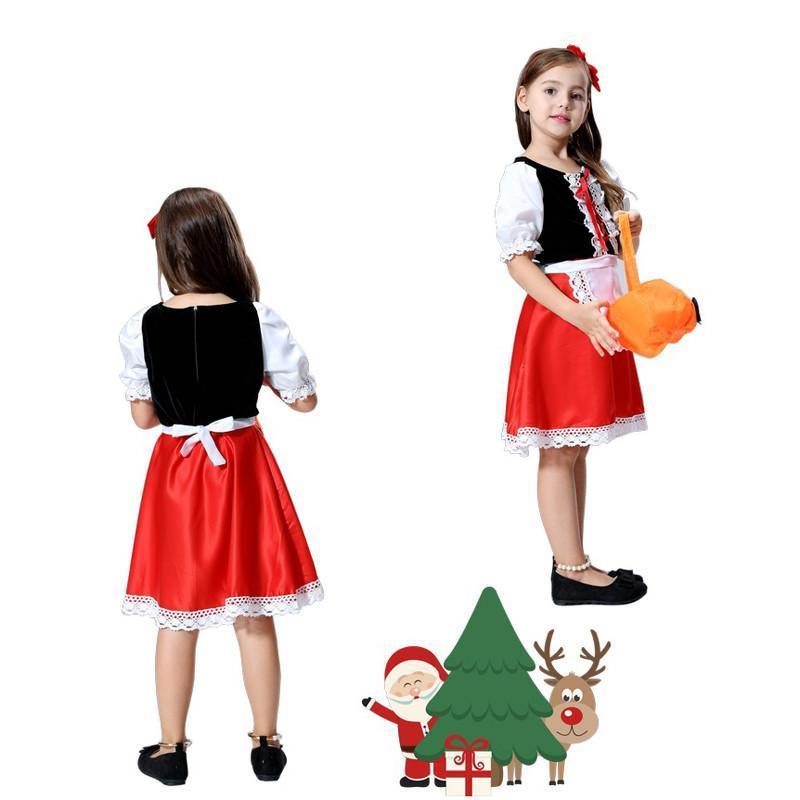 六一儿童节演出服儿童舞蹈服装小红帽女童化妆舞会公主裙