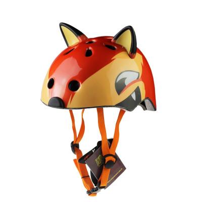 2017新款儿童头盔 个性卡通动物头盔 儿童户外安全头盔 ce认证_1 狐狸