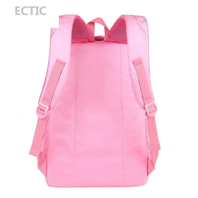 ectic韩版可爱儿童书包小学生女童1-3-4-6年级女生减负双肩背包女孩