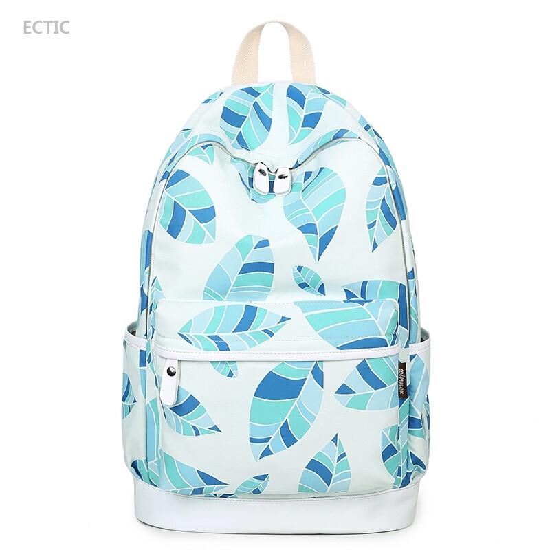 ectic双肩包女韩版中学生书包学院风可爱包包小清新背包