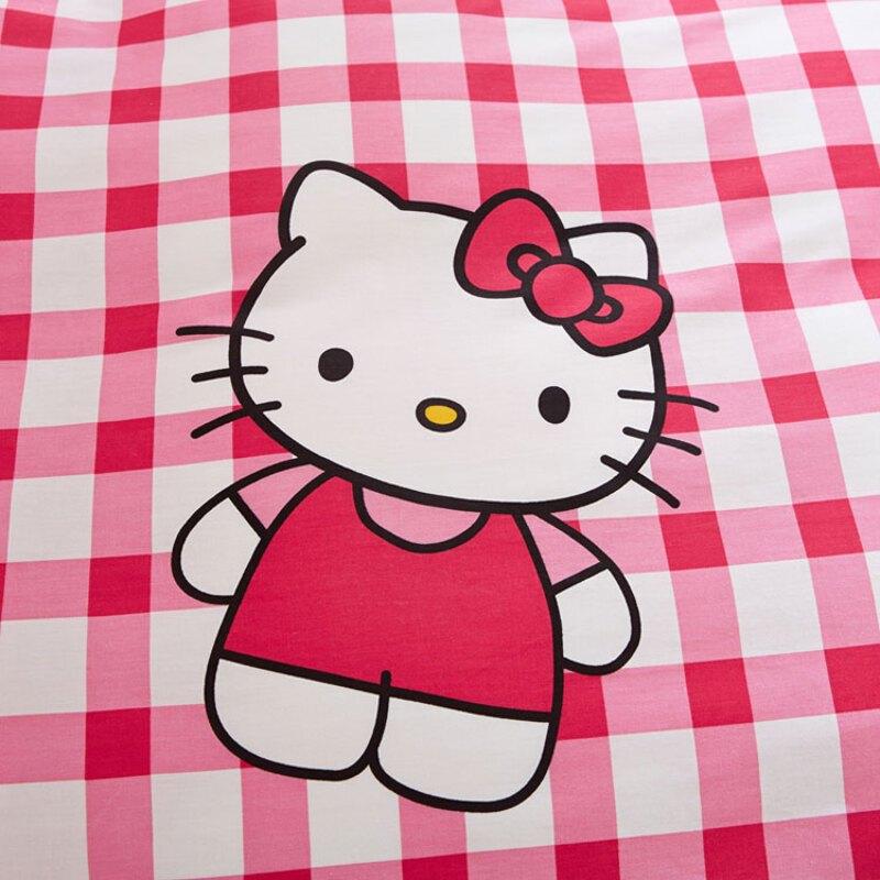 doxa卡通凯蒂猫四件套纯棉可爱公主全棉床品1.5床单被套