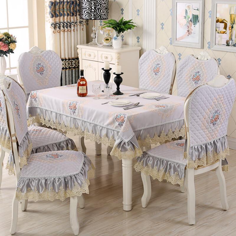 doxa餐椅垫餐桌布艺套装椅子坐垫靠背餐座椅套两件套家用长方形台布图片