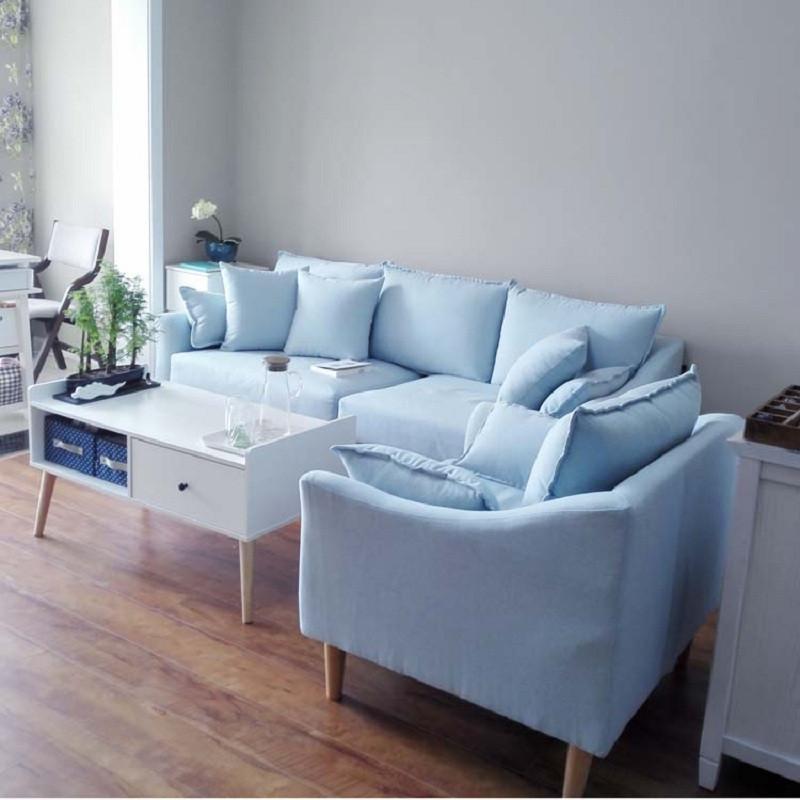 工匠精神 北欧风布艺沙发三人位 意式极简羽绒沙发软图片