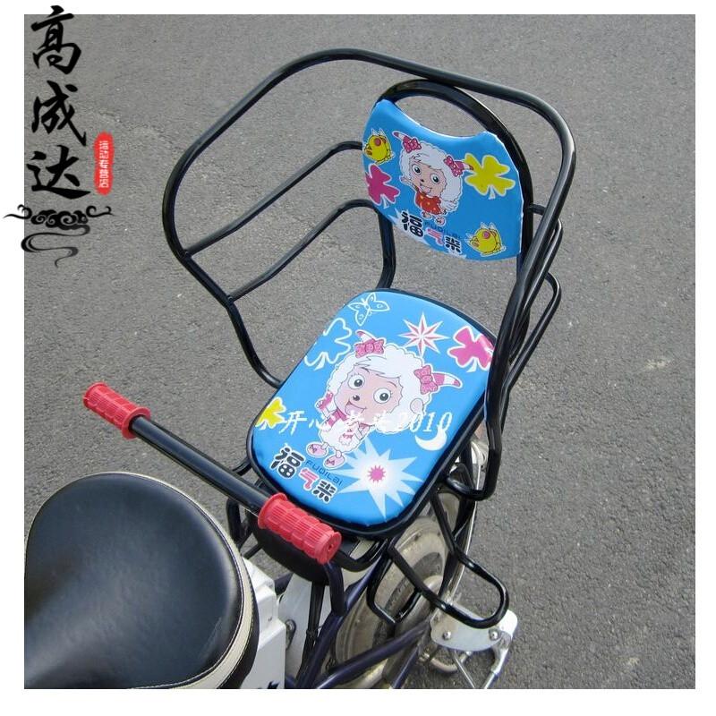 座椅宝宝安全单车小孩后座座儿童安全一体成型加大加宽安全带骑行装备