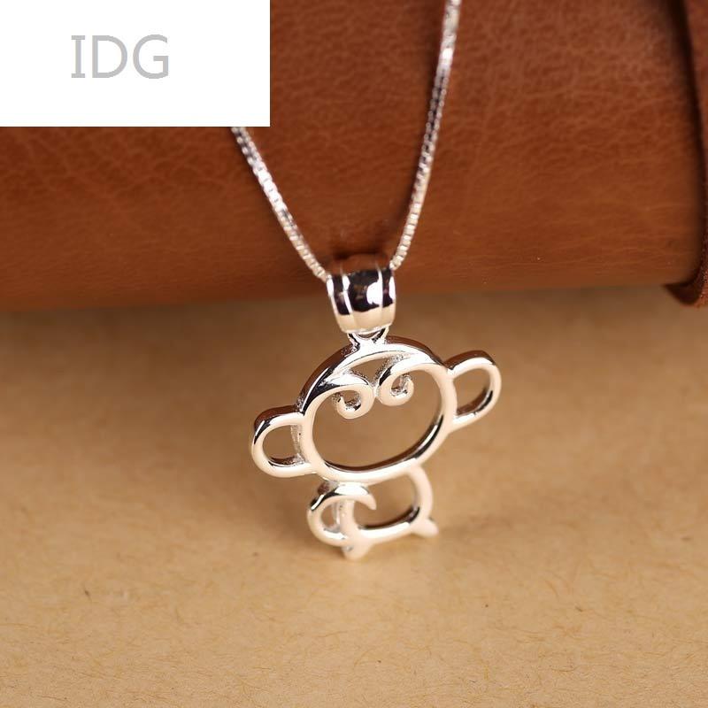 银耳钉猴年本命年礼物可爱猴子耳钉猴系列套装个性百猴子项链一条925