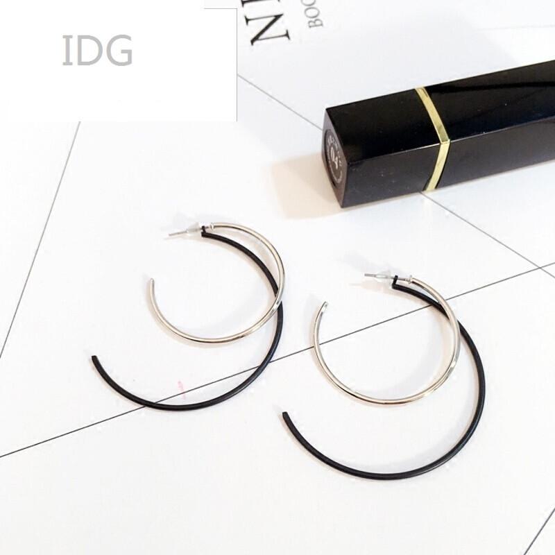 idg韩国直运创意个性夸张欧美风格多层几何图形气质圆圈耳钉耳环耳饰