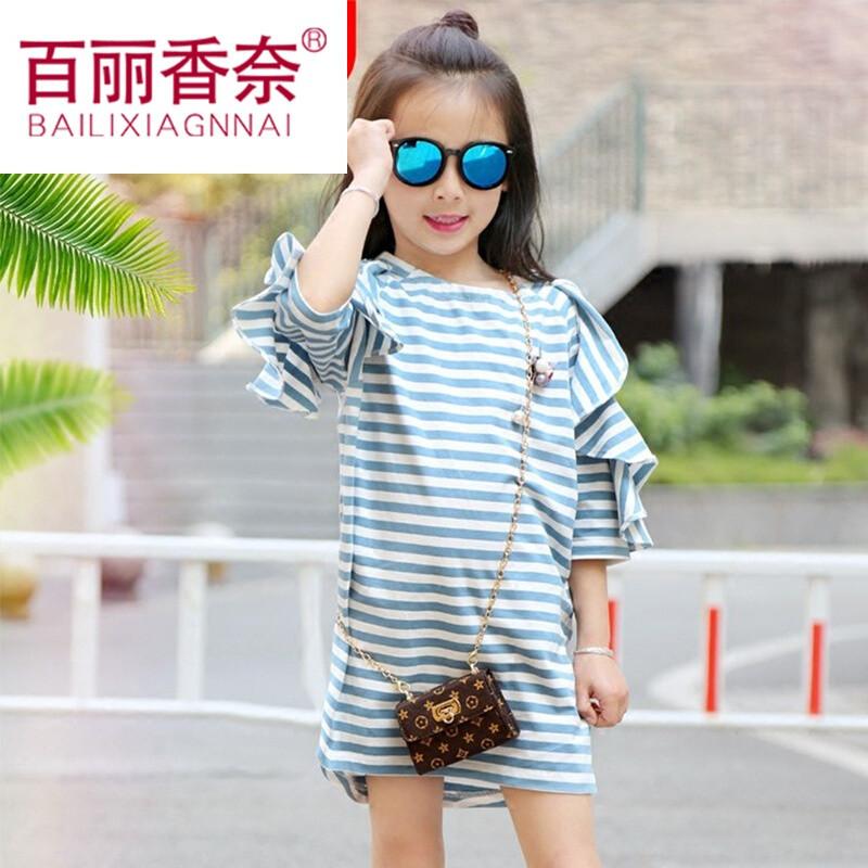百丽香奈男童夏装套装小孩子衣服中大童女童宝宝短袖儿童装夏季夏天两