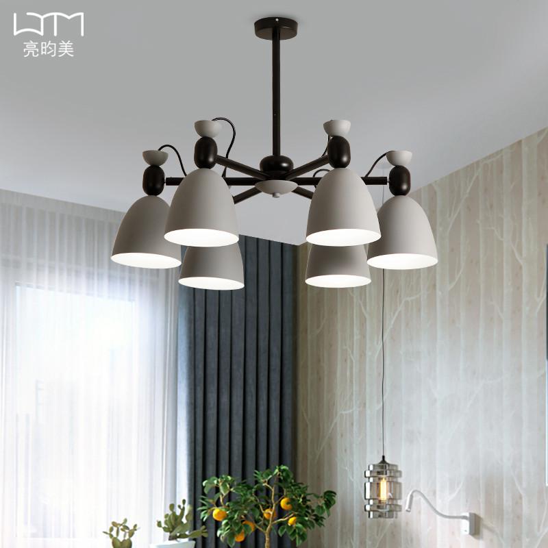 北歐風格燈具馬卡龍客廳吊燈簡約現代臥室餐廳吊燈創意大氣客廳燈