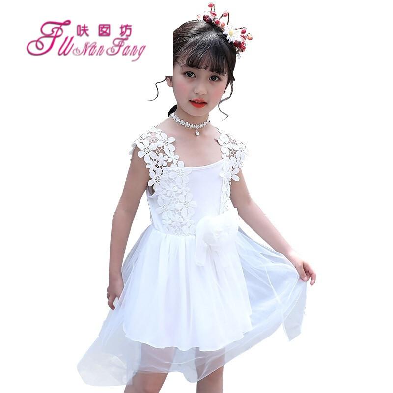 女童连衣裙夏装夏天儿童5-7-12岁6小女孩公主裙8网纱11裙子10白色白色