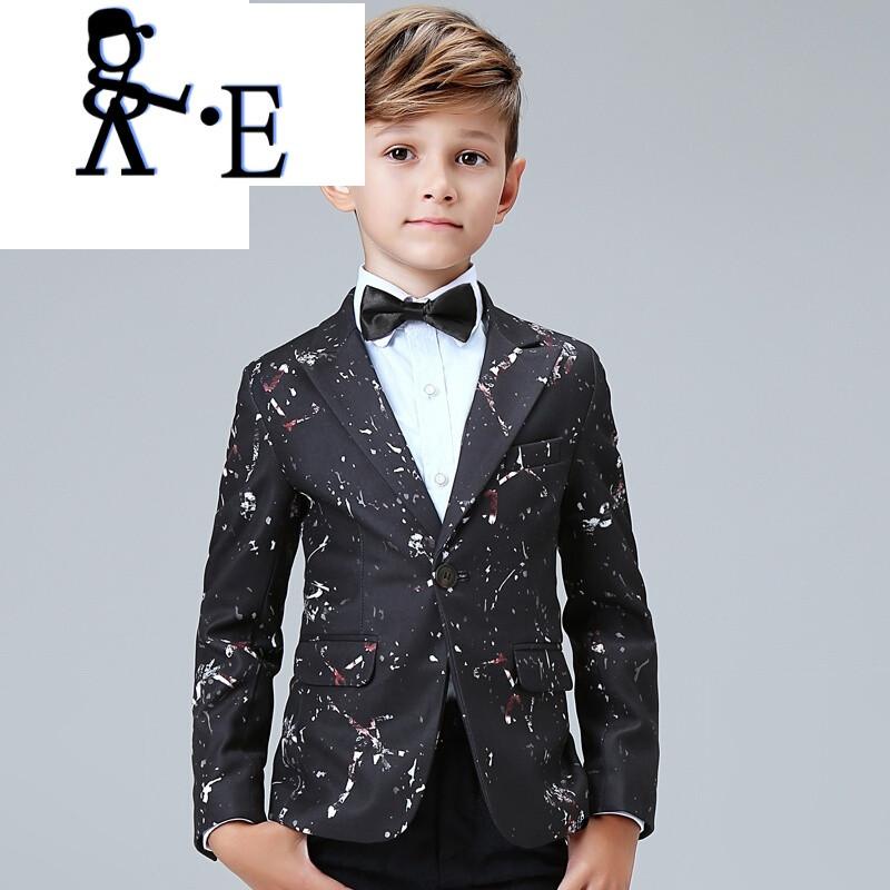 唯帝歌 男童礼服套装模特走秀英伦儿童西装宝宝小花童西服小孩钢琴图片