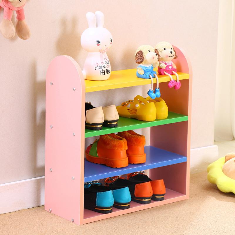 多彩可爱儿童鞋架组合收纳架鞋柜储物收纳置物架