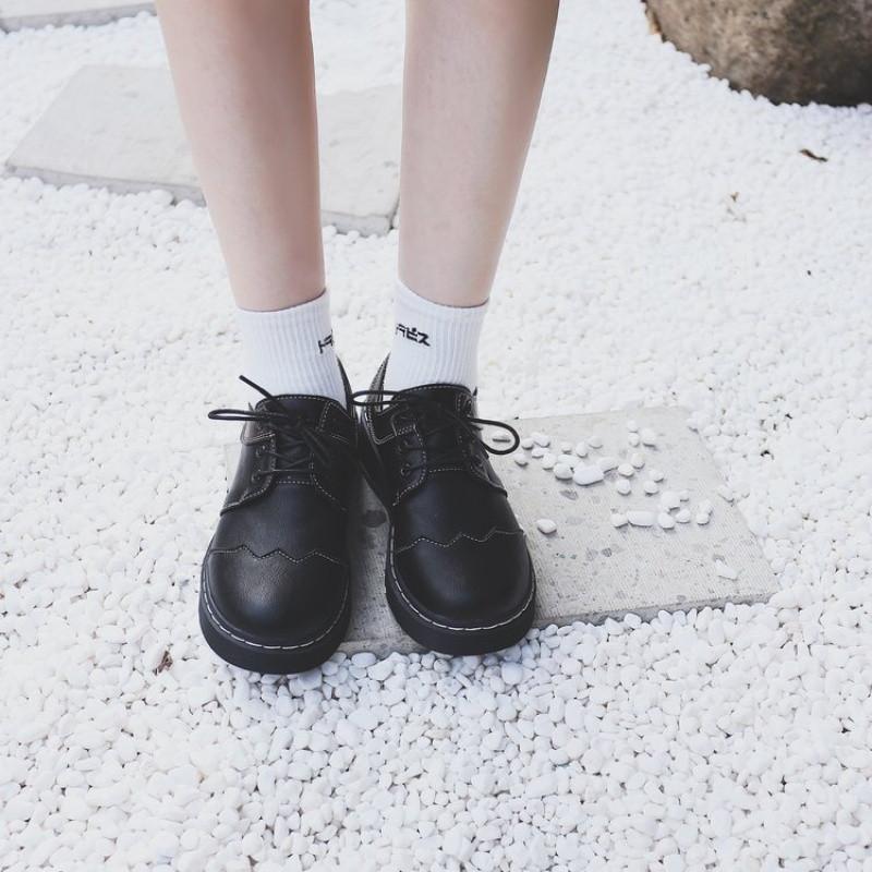 新款公主洛丽塔鞋子女学生可爱圆头单鞋百搭加绒学院软妹小皮鞋女日系