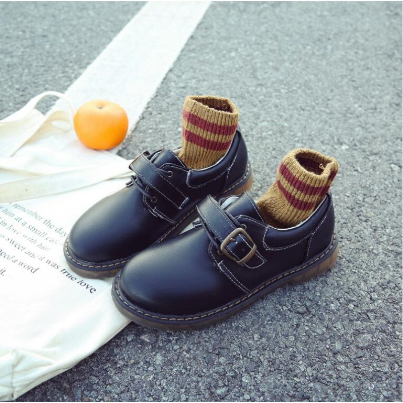 新款复古小皮鞋女原宿学院风韩版学生百搭圆头厚底软妹大头娃娃鞋子潮