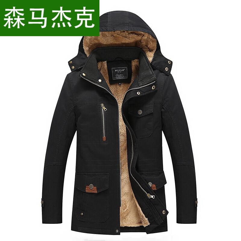 森马杰克秋冬新款色为主棉服夹克外套秋冬男青年韩版修身加绒夹克衫图片