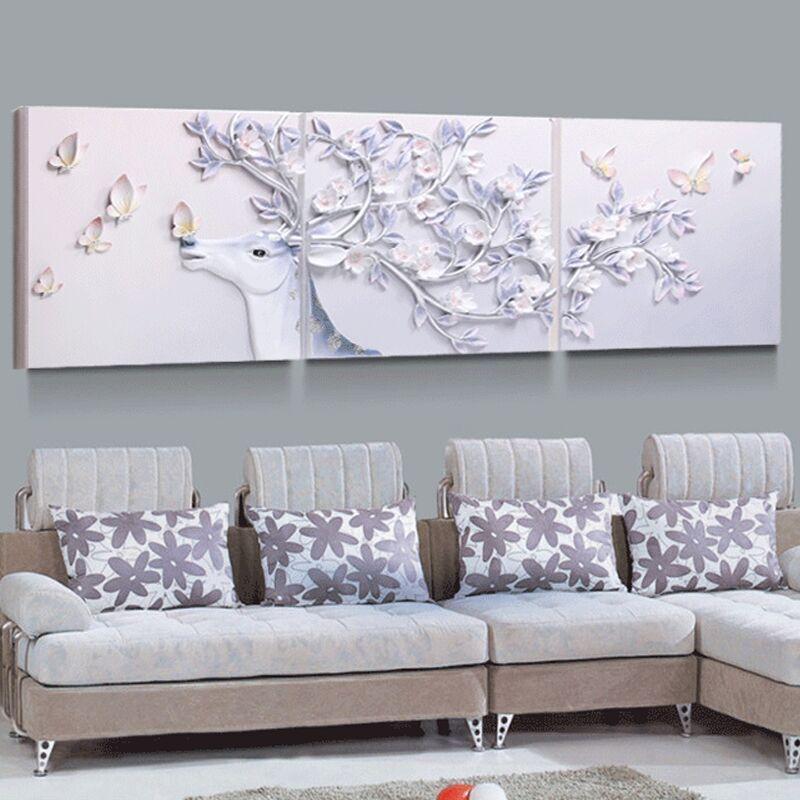 舒厅创意家居 现代简约沙发背景墙挂画立体浮雕画北欧图片