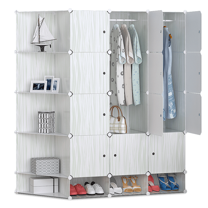 家旺達2tc兒童柜收納柜衣柜簡易衣柜兒童組合寶寶塑料