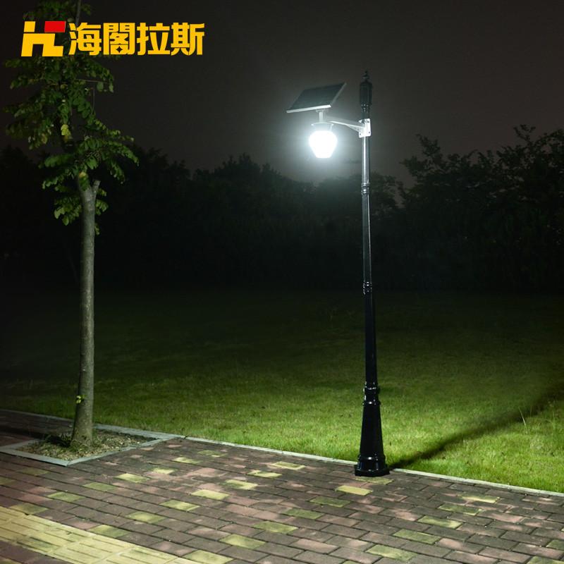 led太阳能庭院灯新农村路灯高杆灯户外壁灯家用高亮别墅防水灯头