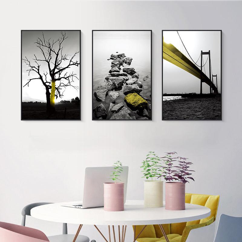 微光 简约现代客厅装饰画风景挂画餐厅玄关装饰画工业